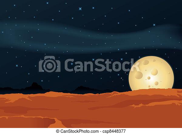 Lunar Desert Landscape - csp8448377