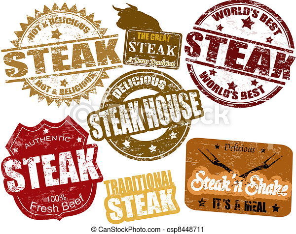 Steak stamps - csp8448711