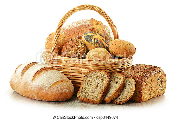 Composition with bread and rolls - csp8449074