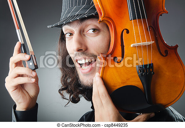 Fiddler playing the violin - csp8449235