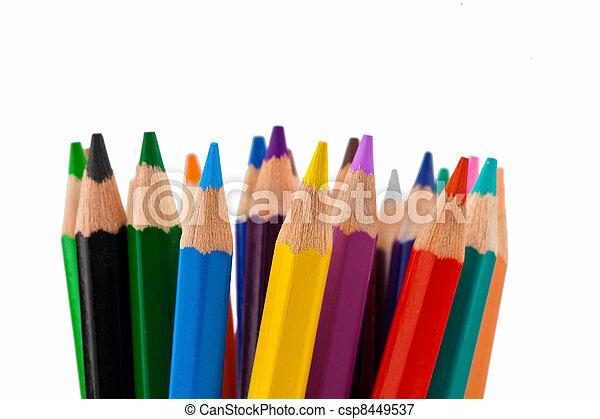 crayons - csp8449537