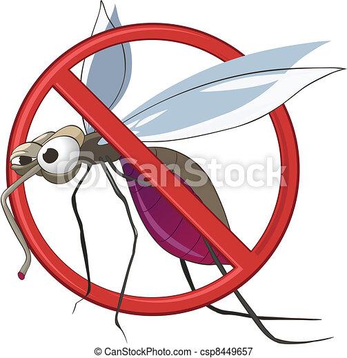 Cartoon STOP Mosquito - csp8449657