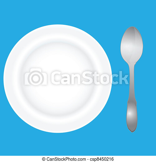 Deep dish and spoon - csp8450216