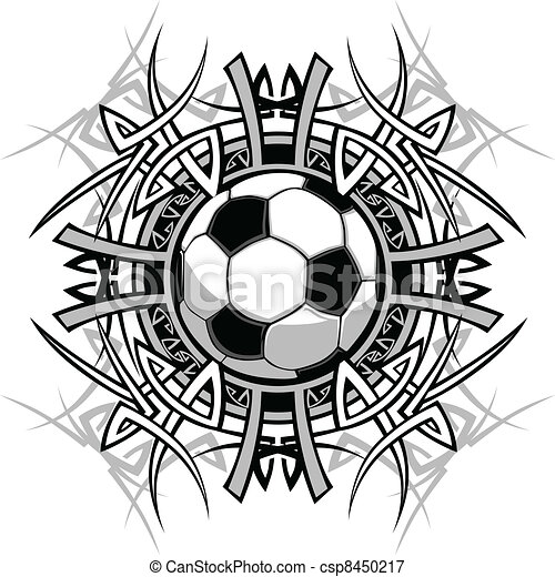 Soccer Tribal Graphic Image - csp8450217