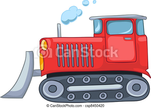 Cartoon Tractor - csp8450420