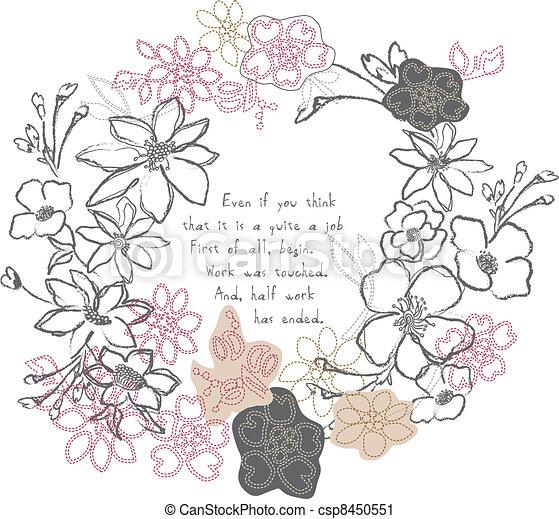 vecteur fleur nature beau couronne banque dillustrations