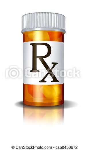 RX Prescription Drugs Pill Bottle - csp8450672
