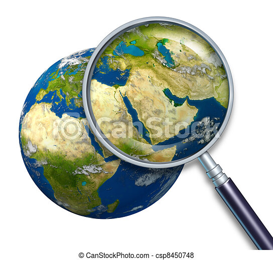 Planet Earth Middle East Crisis - csp8450748