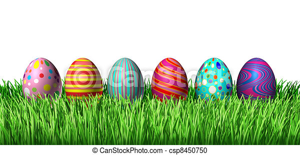 Stock Illustrations of Easter Eggs - Easter Egg hunt with easter ...