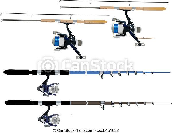 Vector Illustration of fishing rods
