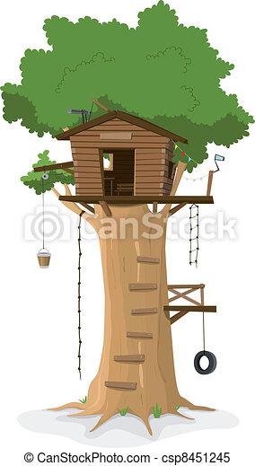 Tree House - csp8451245