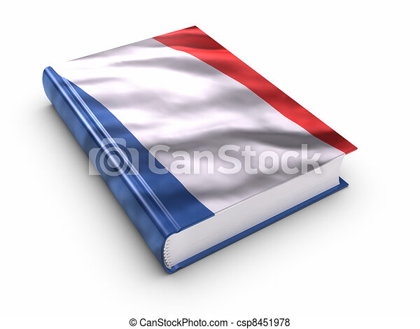 Book covered with French flag - csp8451978