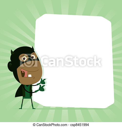 Afro Kid Drawing Black Kid Super Hero Sign