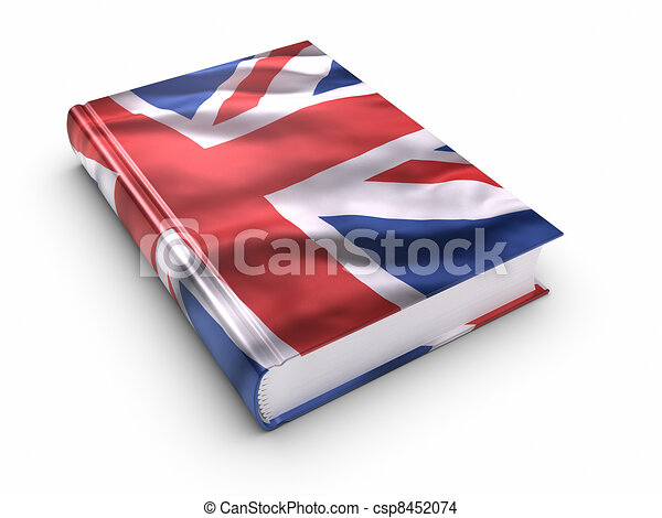 Book covered with British flag - csp8452074
