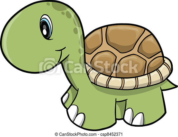 Cute Safari turtle Vector  - csp8452371