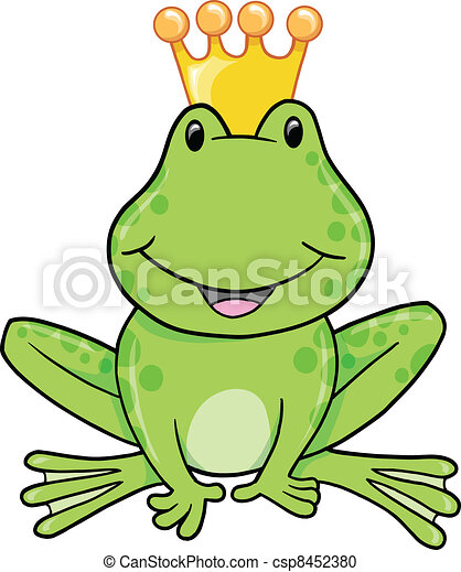Frog Prince Vector Illustration - csp8452380