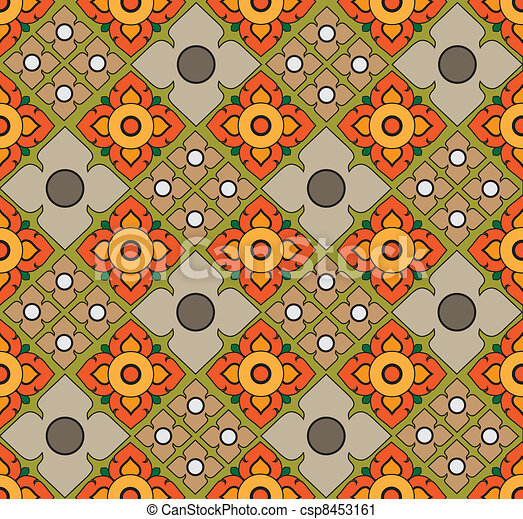 Thai pattern graphic - csp8453161