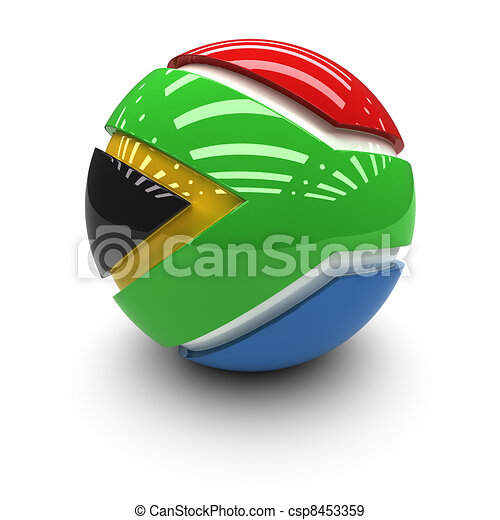 Flag of South Africa - csp8453359