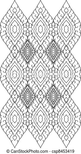 Thai pattern graphic - csp8453419