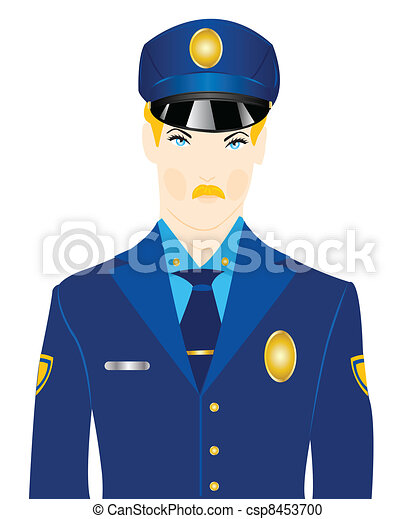 Police In Uniform Vector - Instant Download - csp8453700