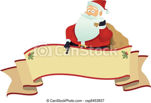 Santa's Scroll Banner - csp8453837