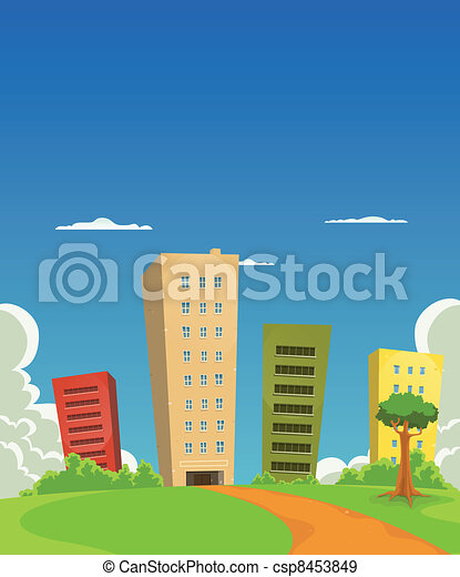 Apartments And Offices Building - csp8453849