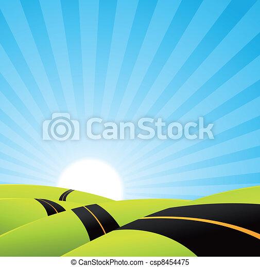 Long Journey Background - csp8454475