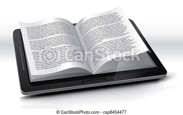 E-reader In Tablet PC - csp8454477