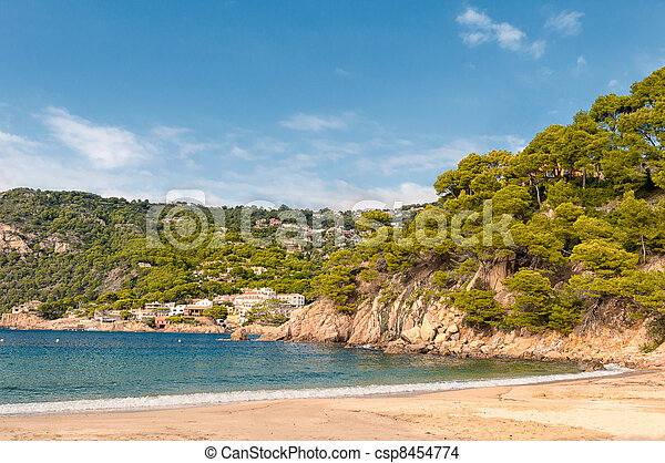 Costa Brava beach, Begur, Spain - csp8454774