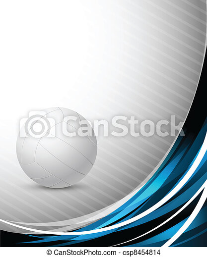 Abstract background with volleyball - csp8454814