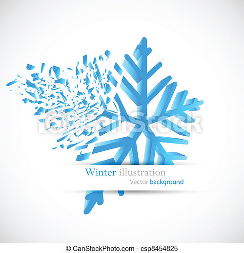 Snowflake with debris - csp8454825