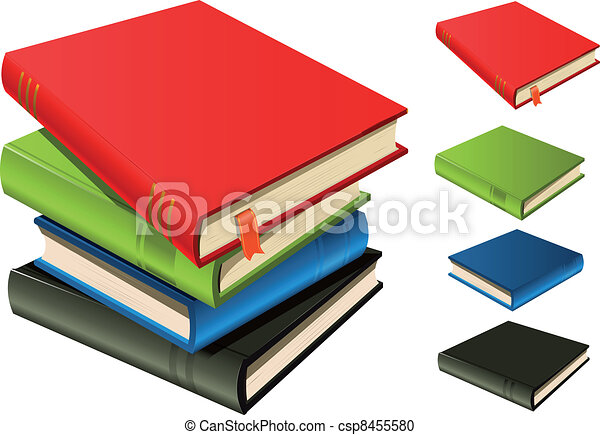 Stack Of Books - Set And Separated - csp8455580