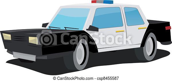 Cartoon Police Car - csp8455587
