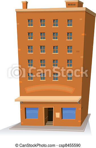 Cartoon Shop Building - csp8455590
