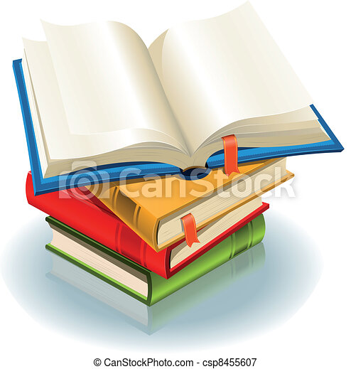 Bücherstapel clipart  Vektoren Illustration von buecher, stapel - Illustration, von, a ...