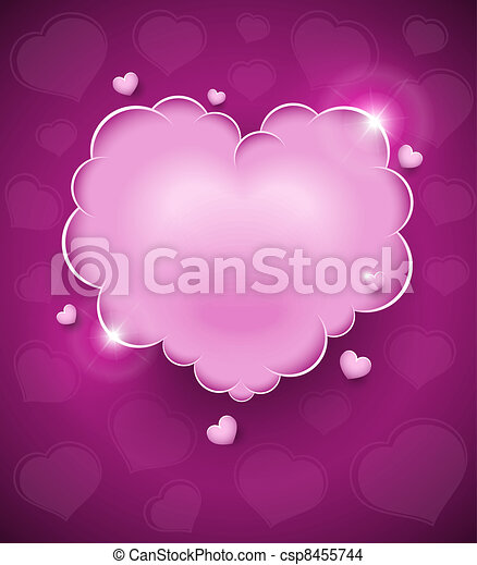 pink glamour heart cloud - csp8455744