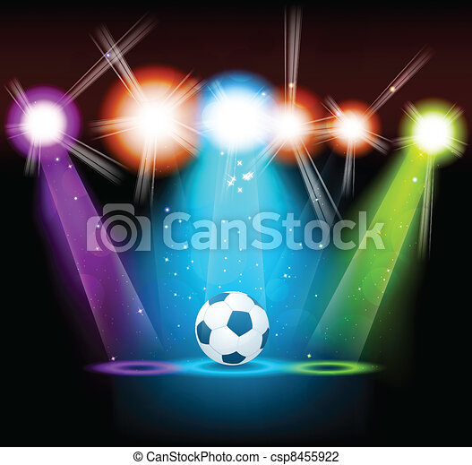 Bright background with ball - csp8455922