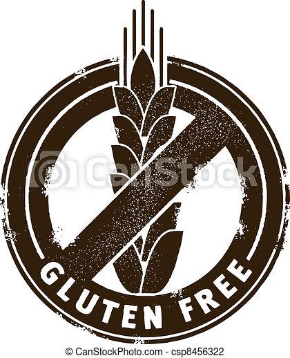 Gluten Free Stamp - csp8456322
