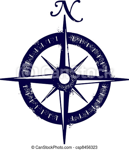 Vintage Style COmpass Rose - csp8456323
