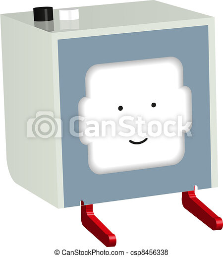Little printer. Newspaper. Vector illustration - csp8456338