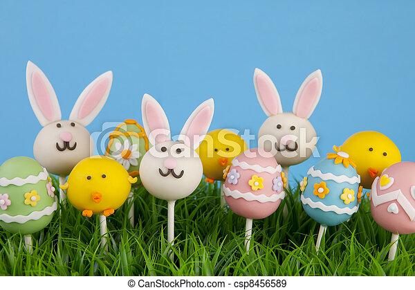 Easter cake pops - csp8456589