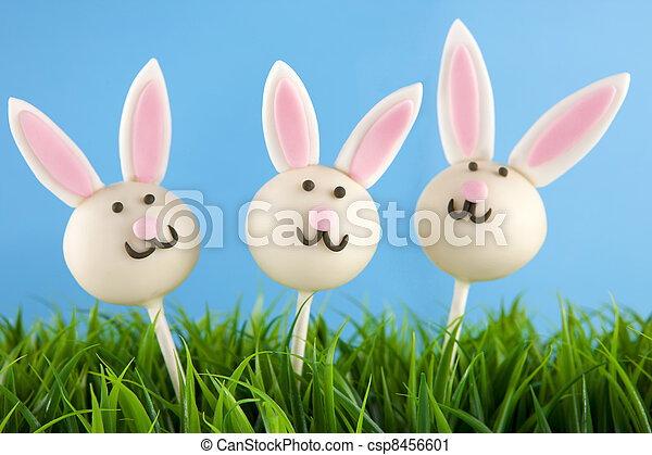 Easter bunny cake pops - csp8456601
