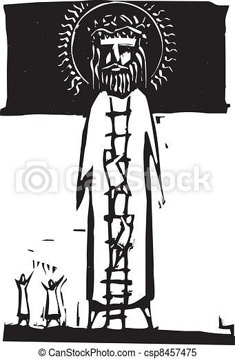 Ladder to God - csp8457475
