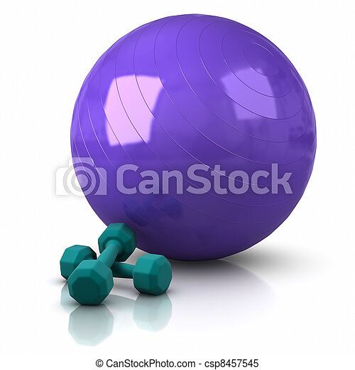 Fitness Ball and Weights - csp8457545