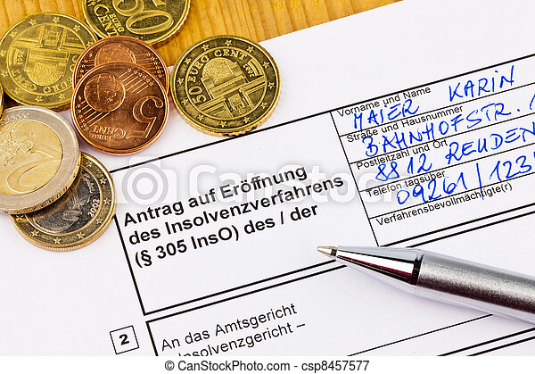 bankruptcy people germany - csp8457577