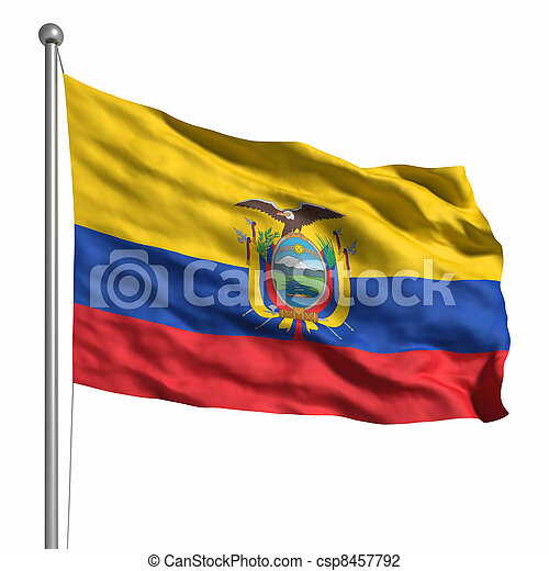 Flag of Ecuador - csp8457792