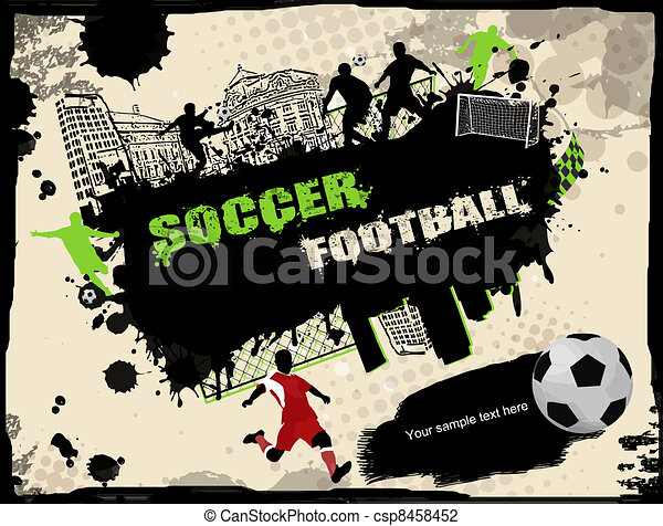 Urban soccer background - csp8458452