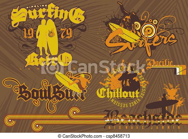 beach side surfing - csp8458713