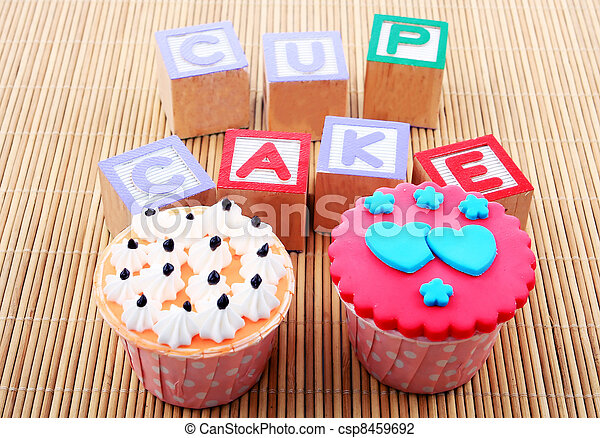 cup cake with word - csp8459692