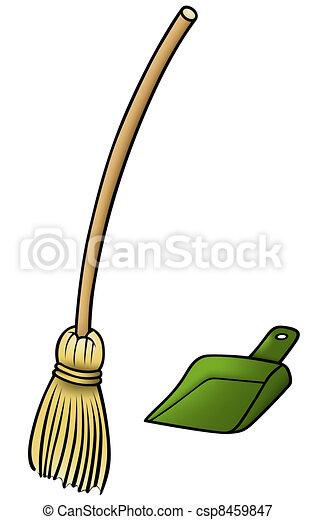 Broom and Scoop - csp8459847